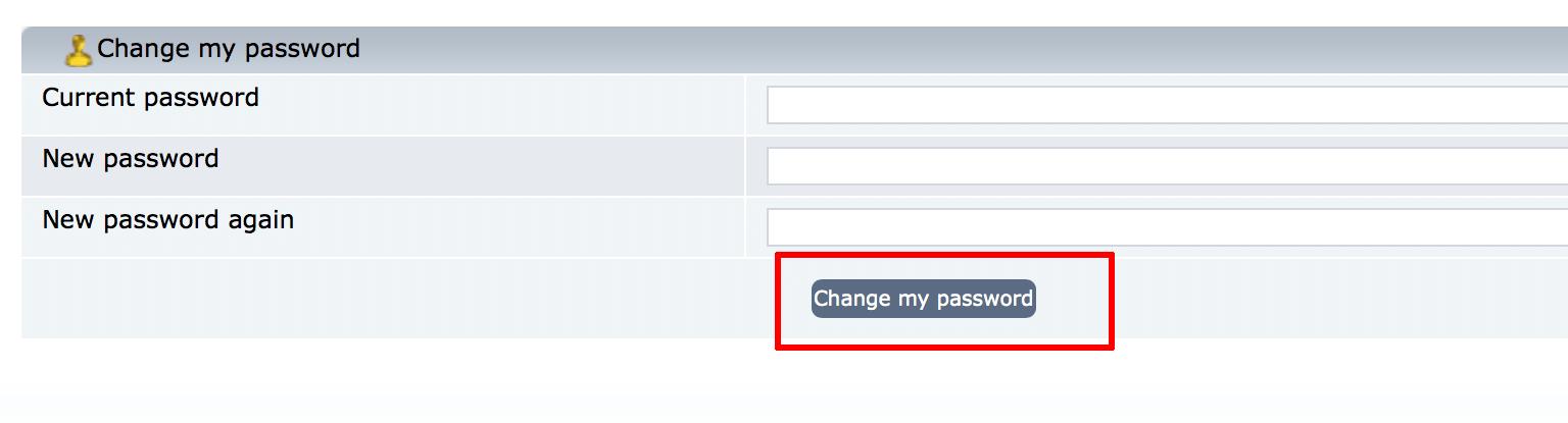 Coppermine password change