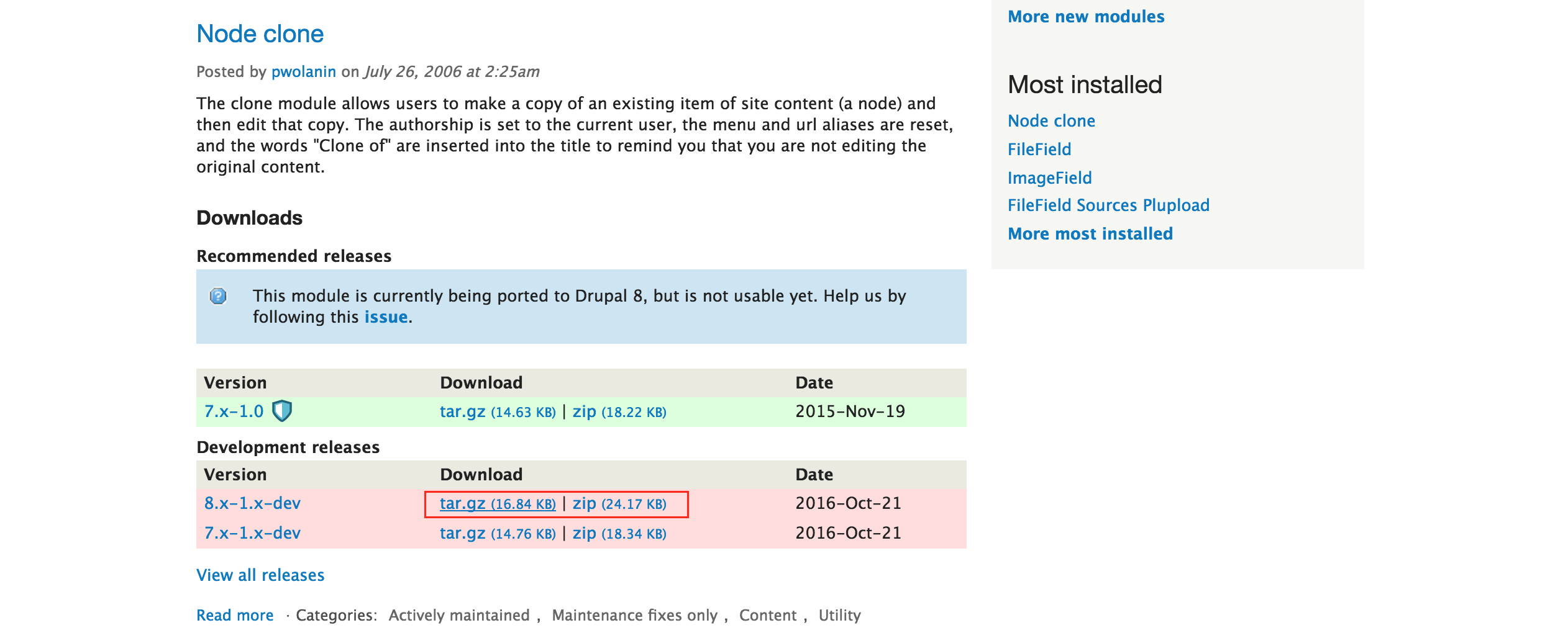 Download new module from Drupal module directory