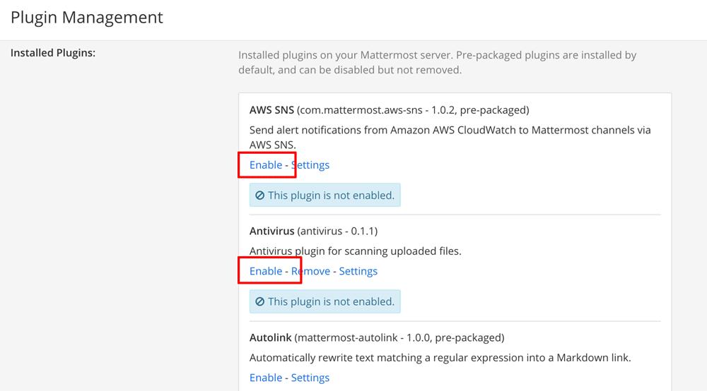 Enable plugins