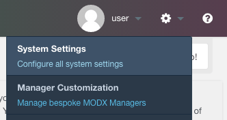 MODX email configuration