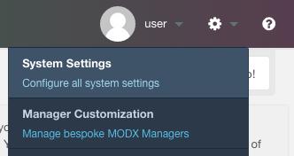 MODX email configuration