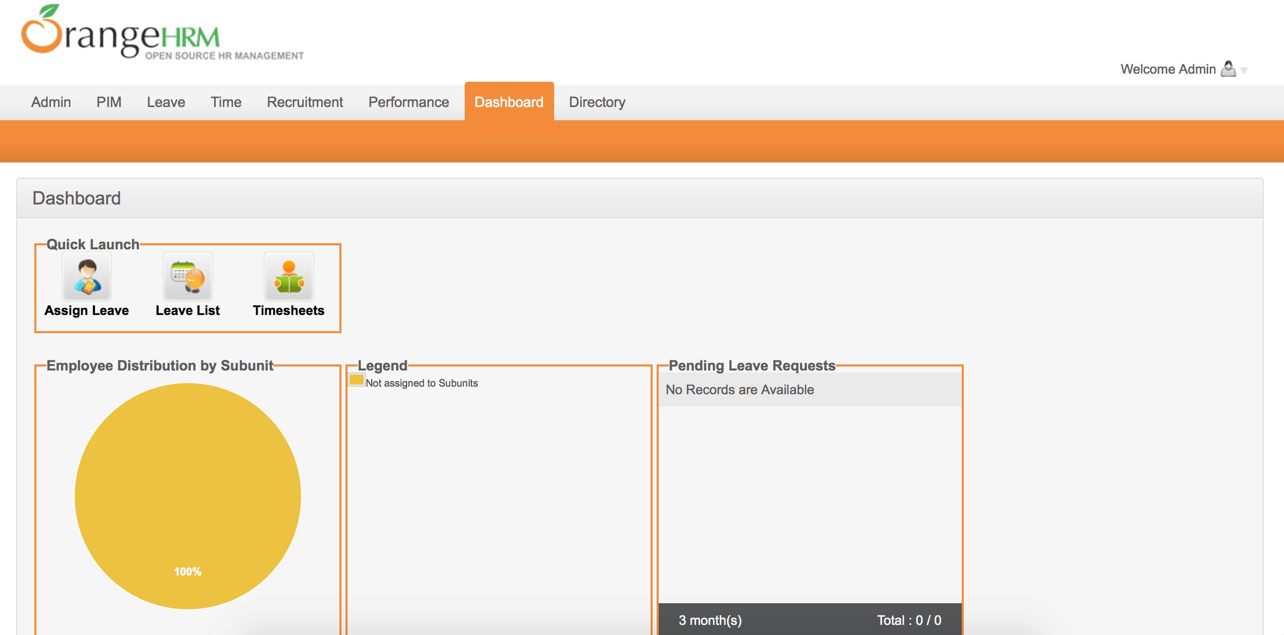 OrangeHRM mail configuration