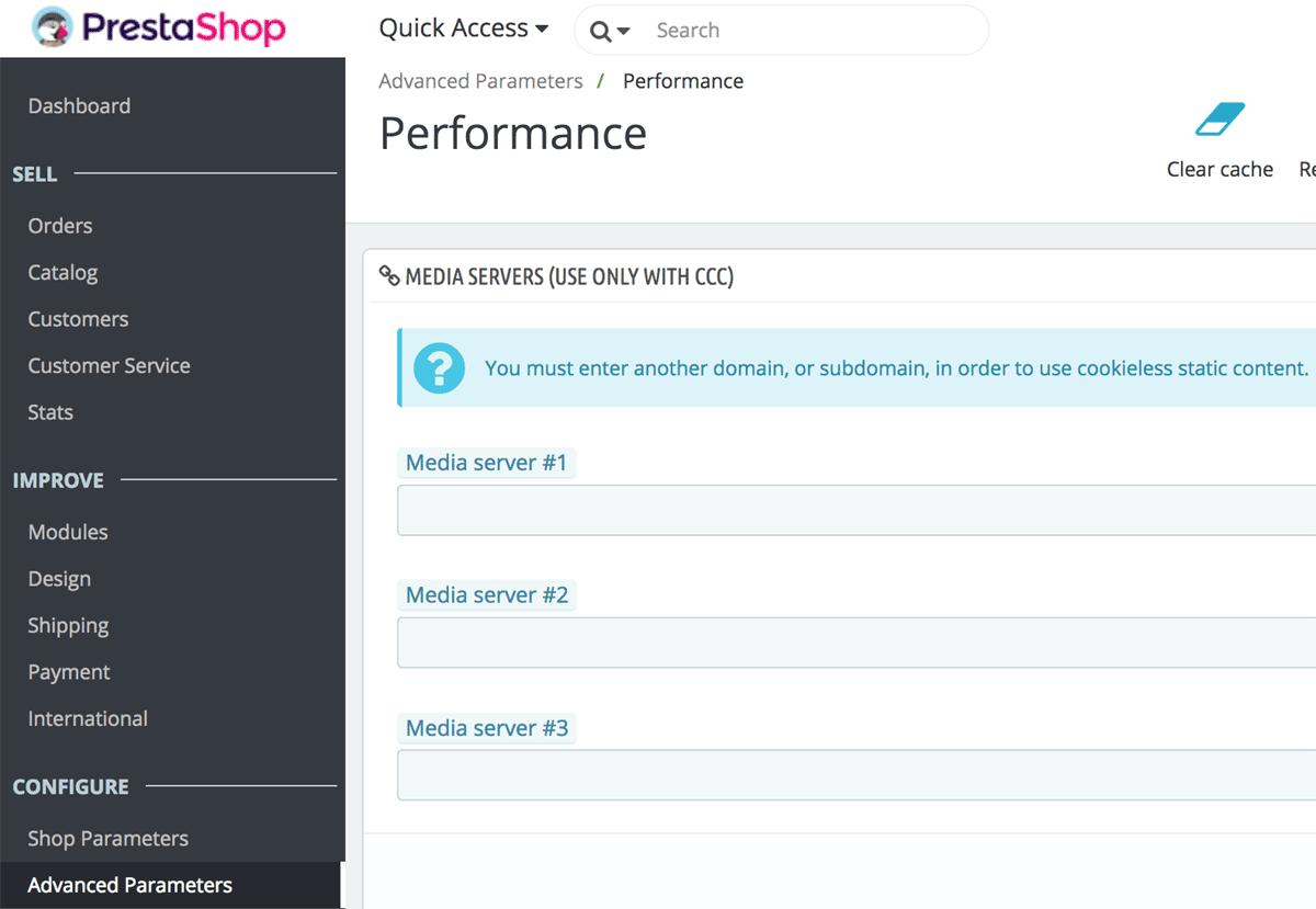 PrestaShop configuration