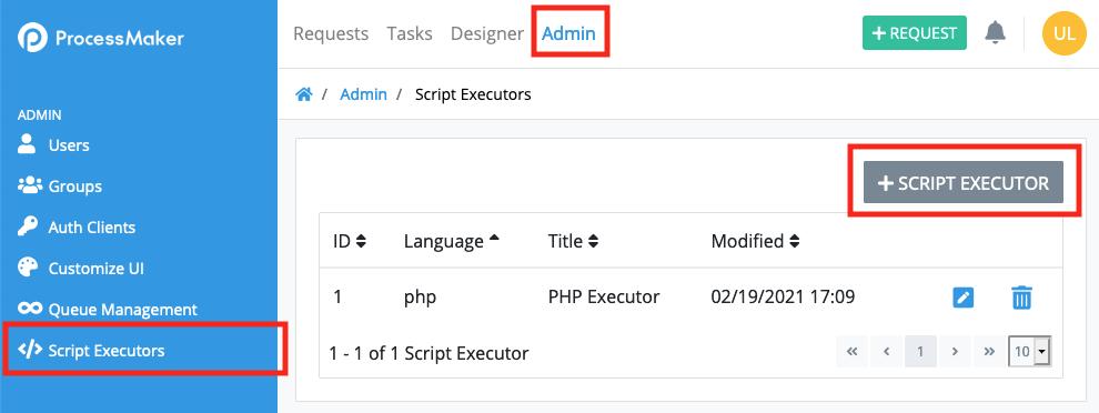 ProcessMaker script executors
