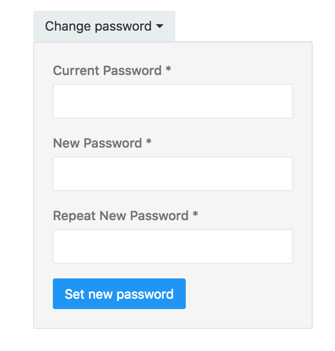Redash password modification