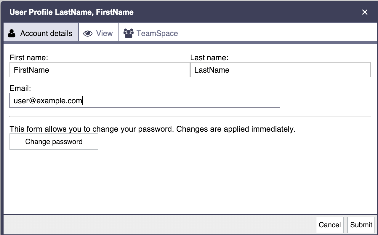 Password configuration