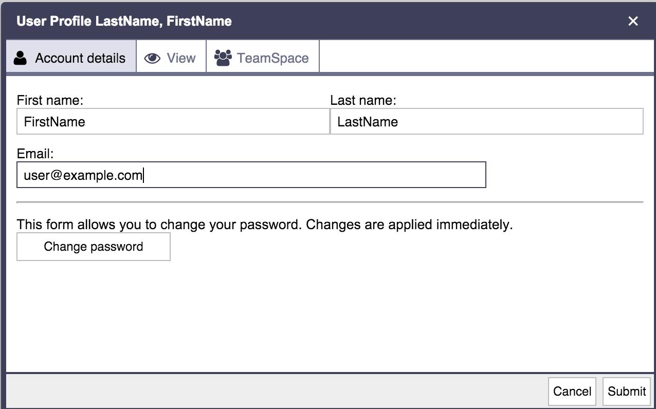Password configuration