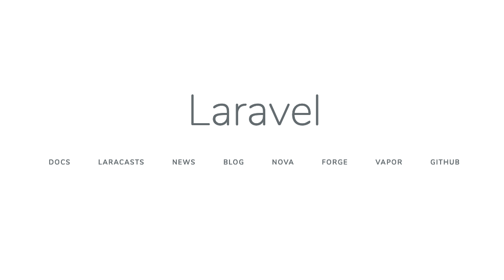 Laravel welcome page