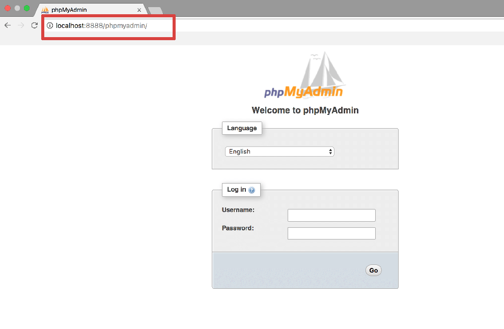 Connect to phpMyAdmin