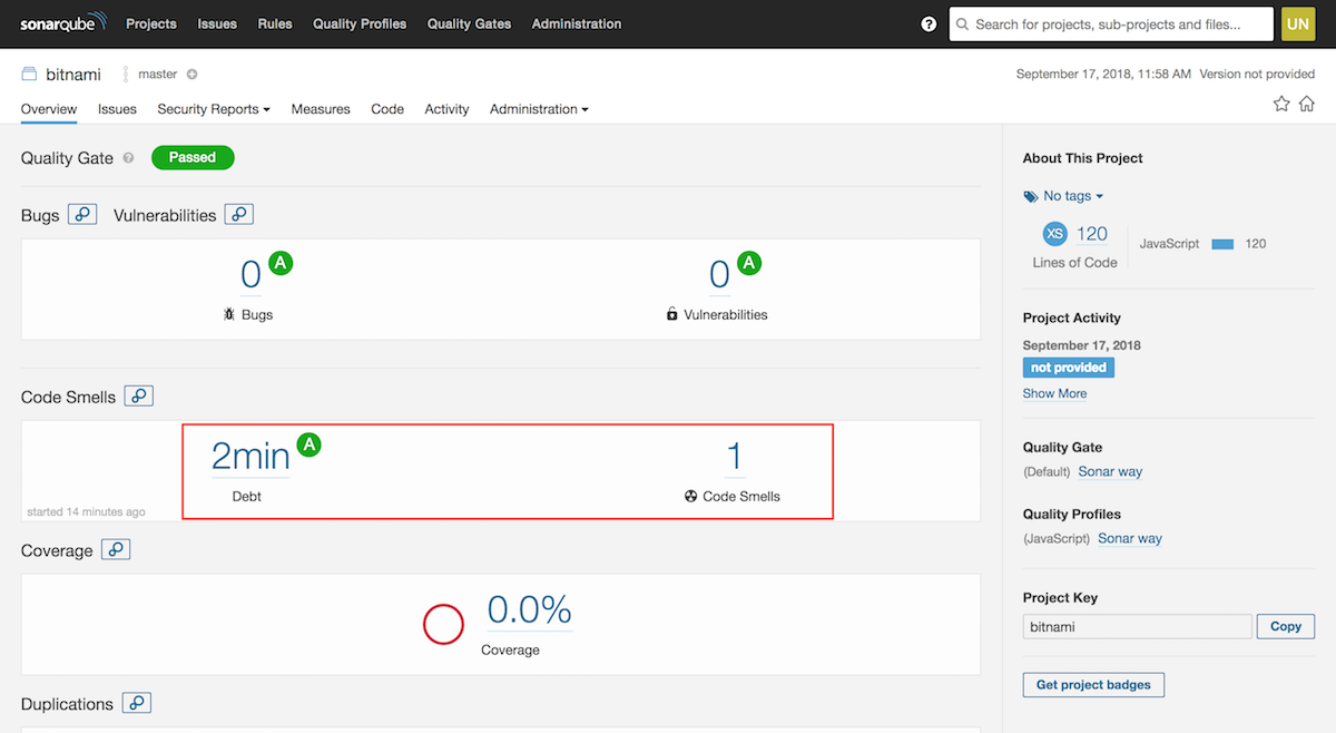 Start an analysis with SonarQube