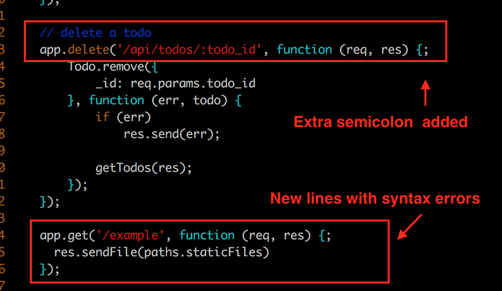 Introduce new errors in the code