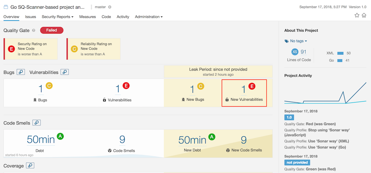 SonarQube first analysis