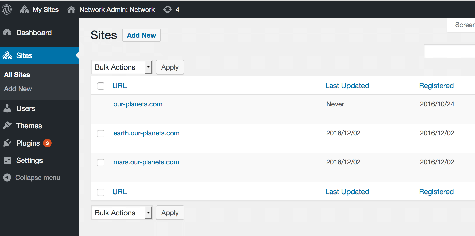 WordPress Multisite conversion