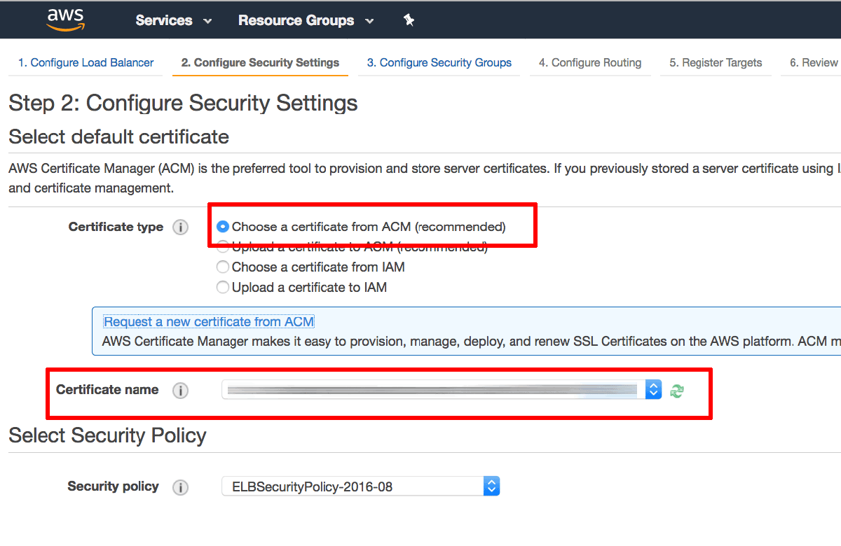 Configure Elastic Load Balancing With Ssl And Aws Certificate