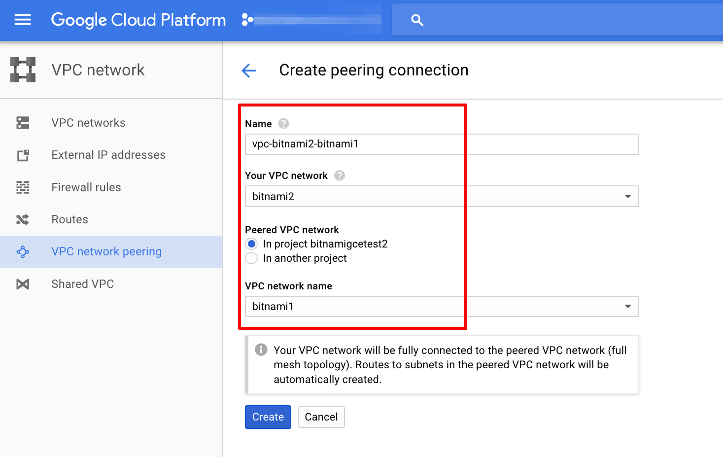 VPC second peering connection