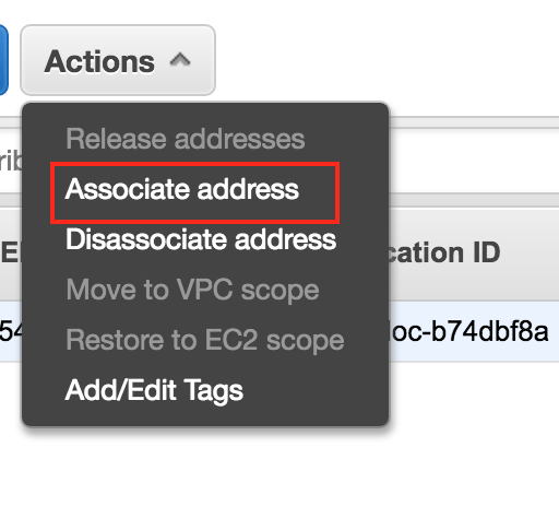 Associate IP address