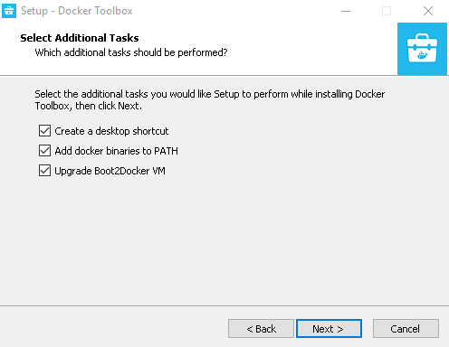 Install Docker Toolbox in Windows