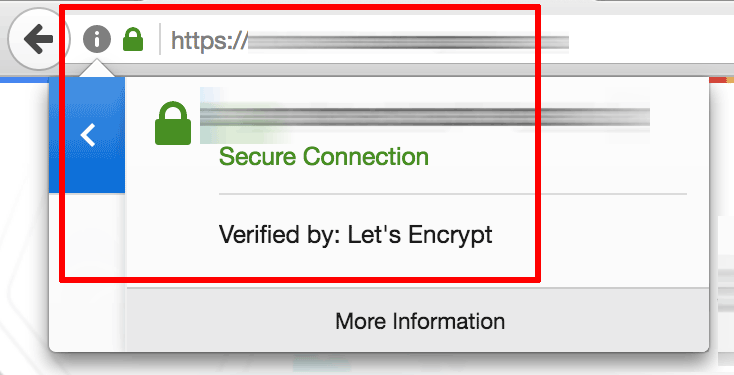 Let's Encrypt certificate in action