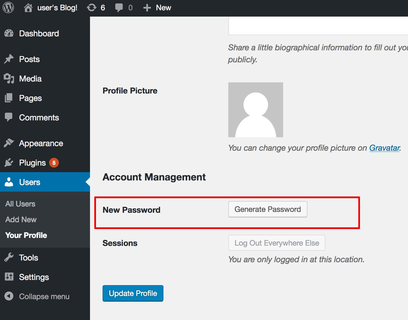 Password generation