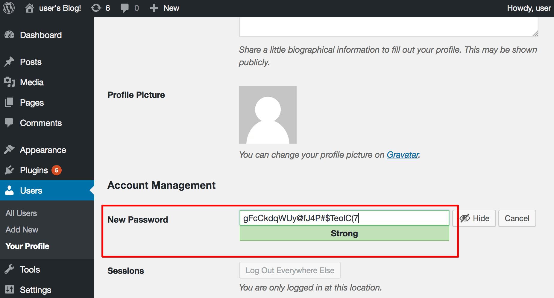 Password modification