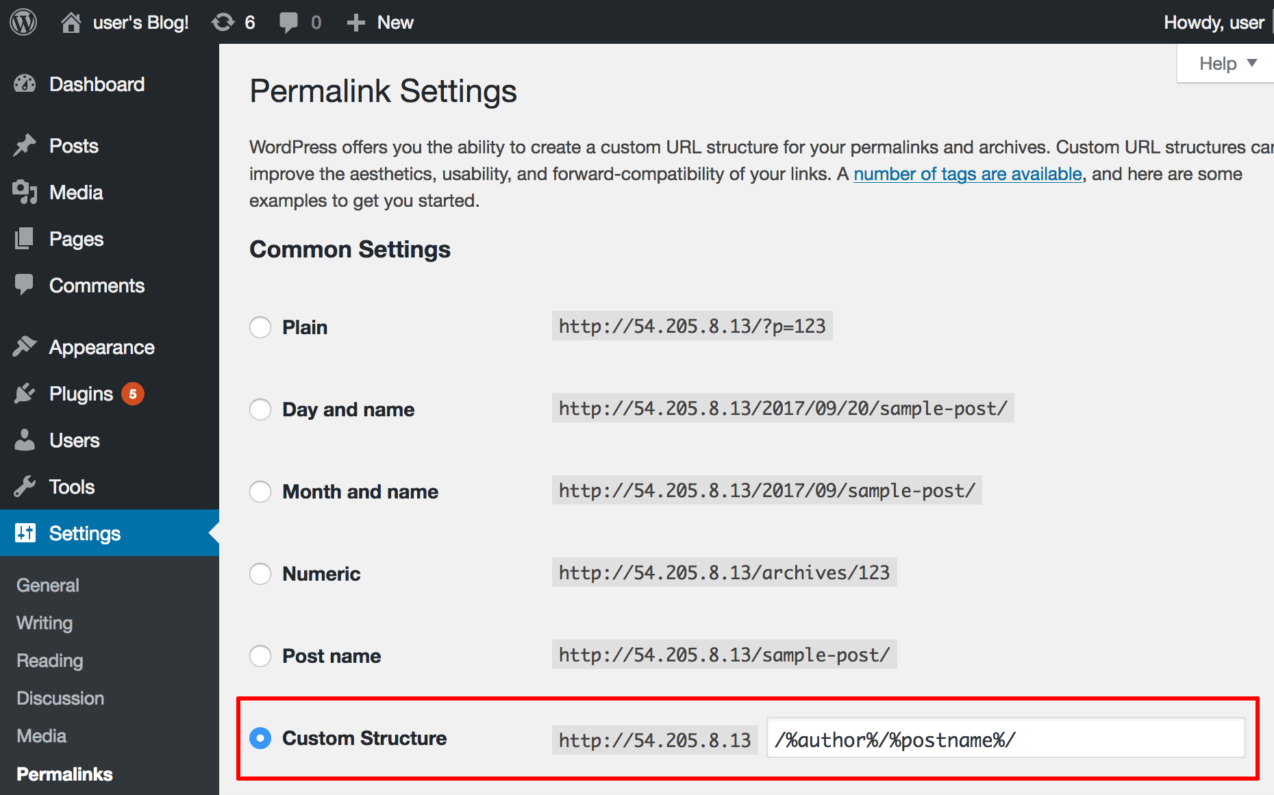 Permalink customization