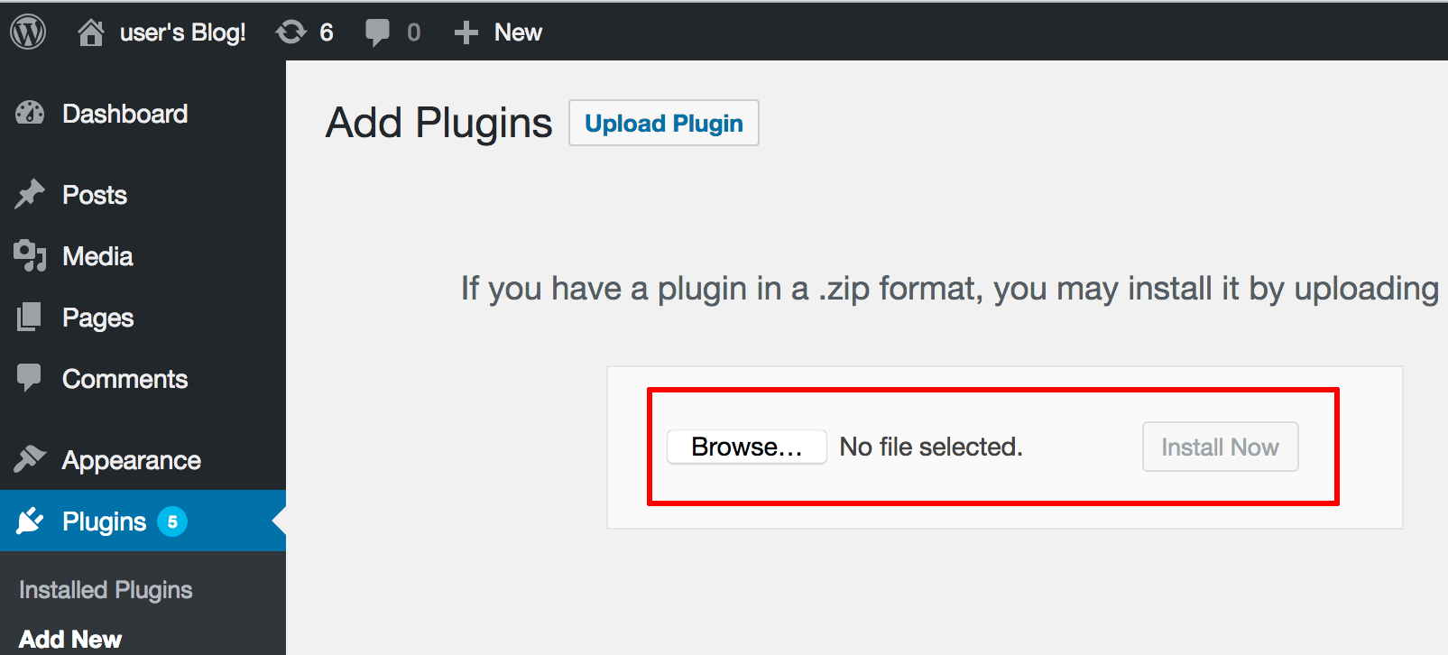 Plugin installation