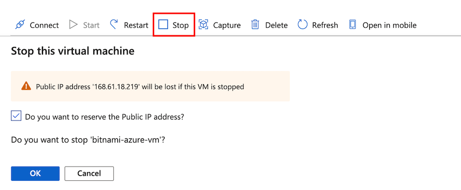 Stop the VM