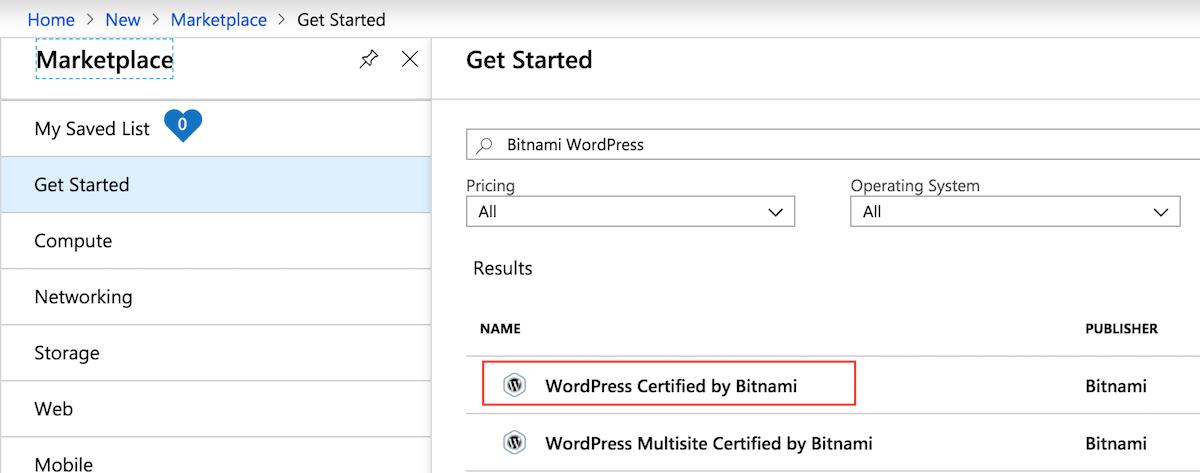 Launch Bitnami WordPress