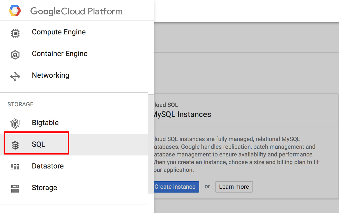 Google Cloud SQL database migration