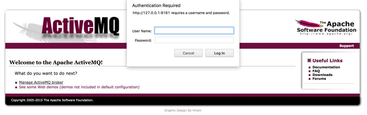 Access ActiveMQ admin panel