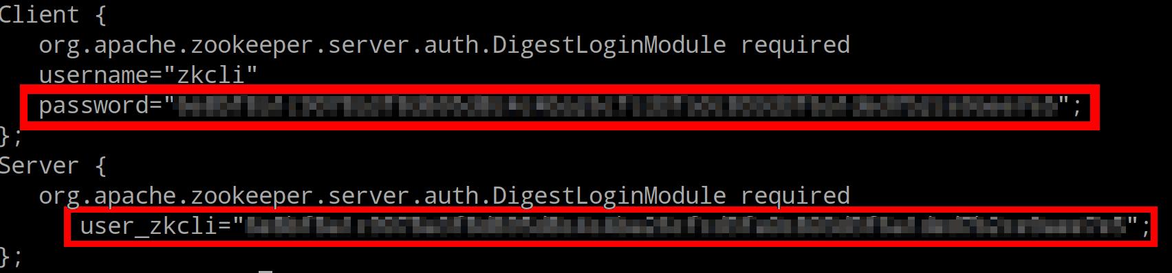 Change ZooKeeper password