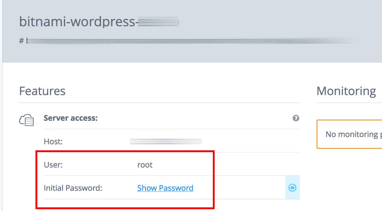 SSH credentials