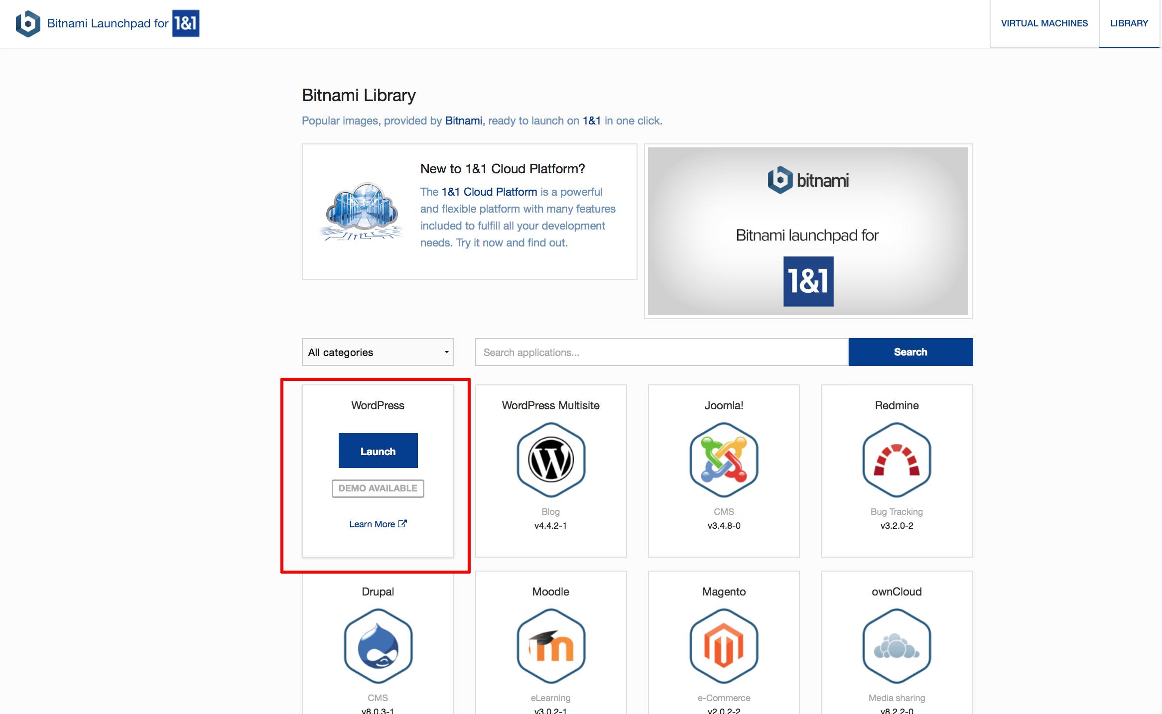 Bitnami Launchpad usage