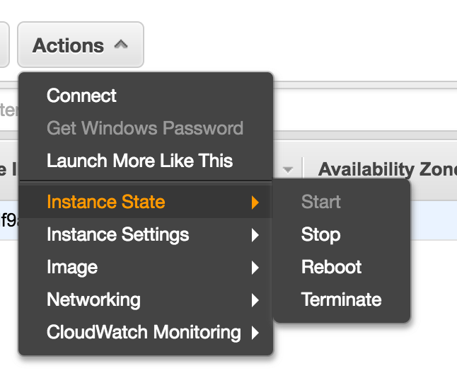 Start or stop AWS instances in a Multi-Tier Solution