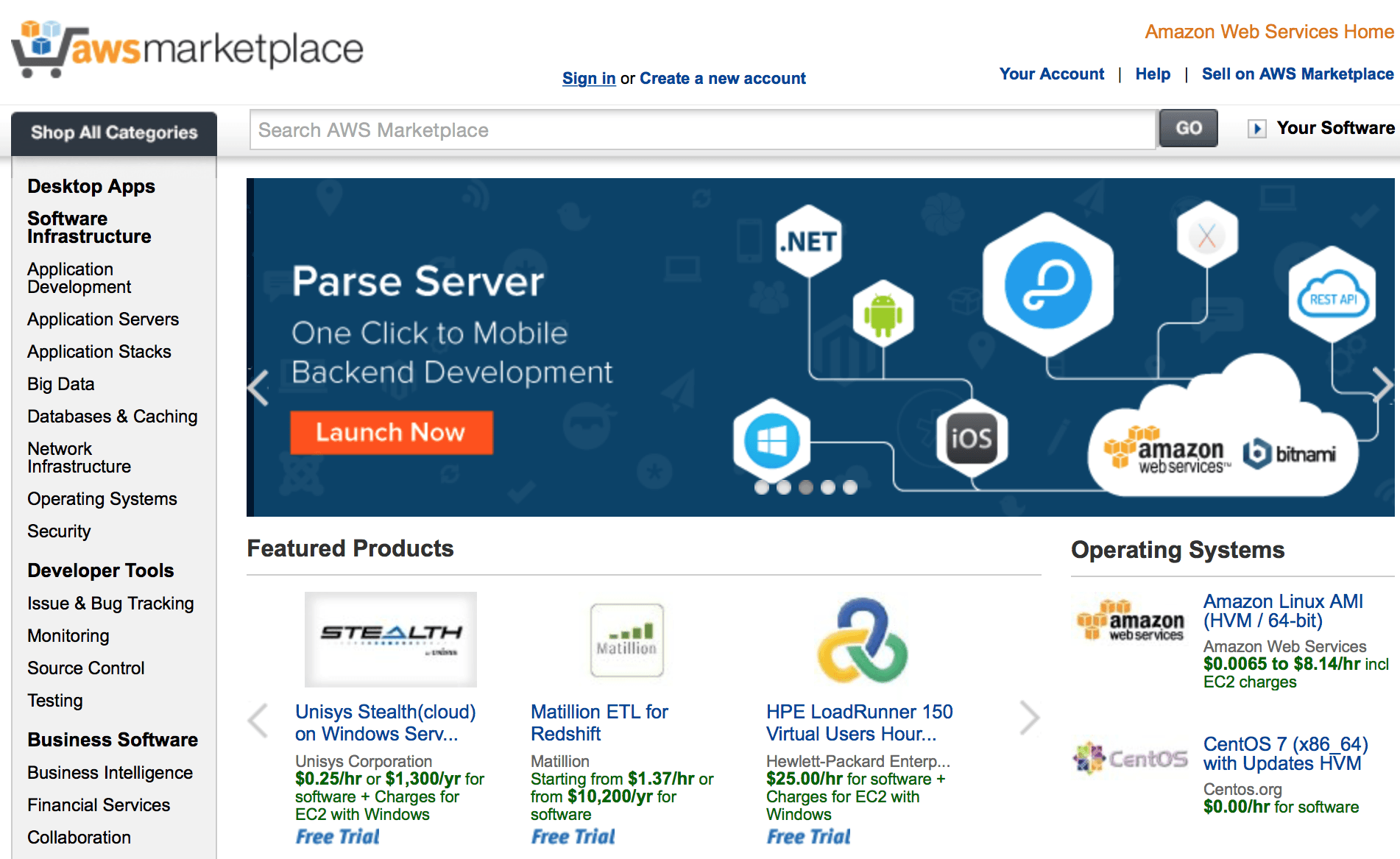 AWS Marketplace launcher