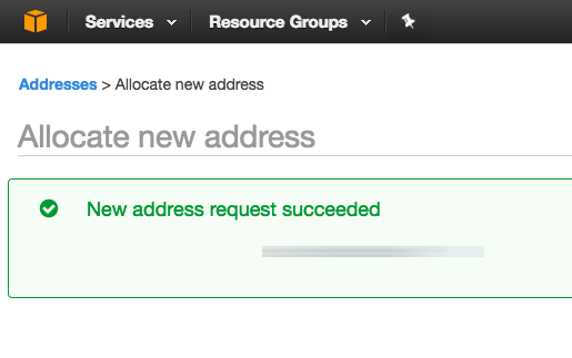 AWS IP address configuration
