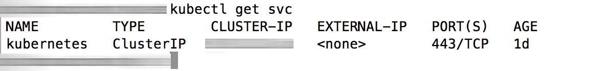 EKS cluster service status
