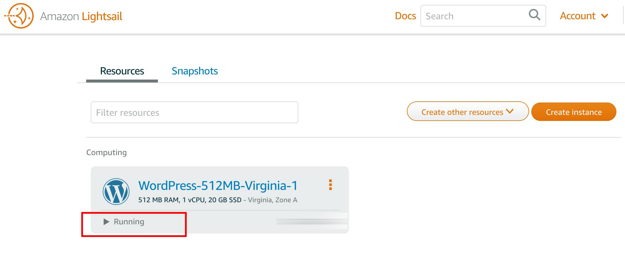 Lightsail deployment status