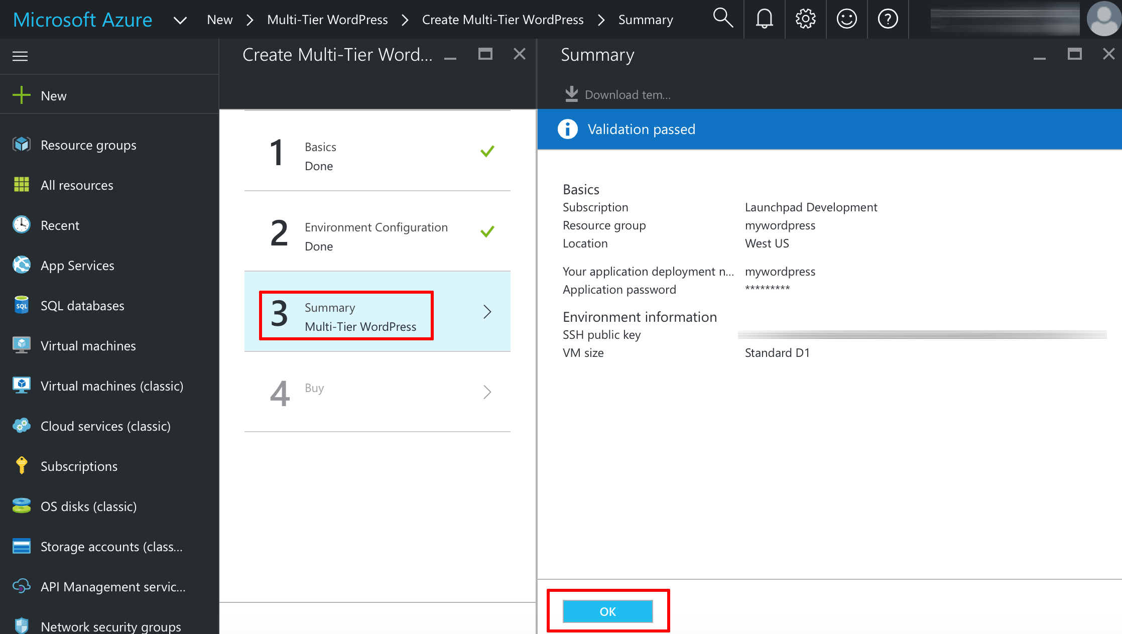 Azure virtual machine creation