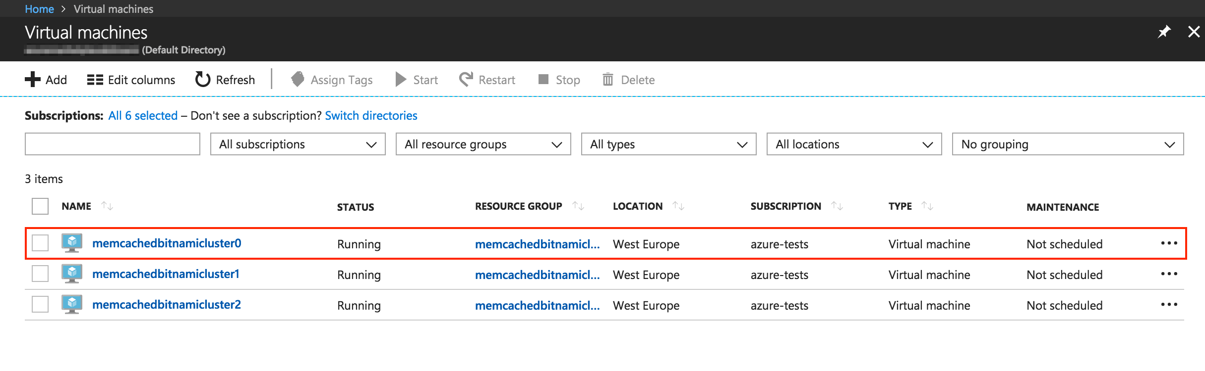Connect to cluster virtual machines