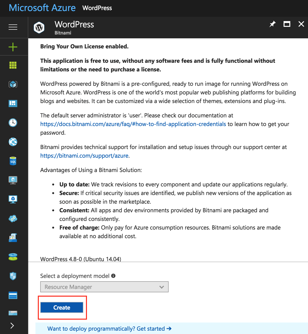 Create a new Azure virtual machine