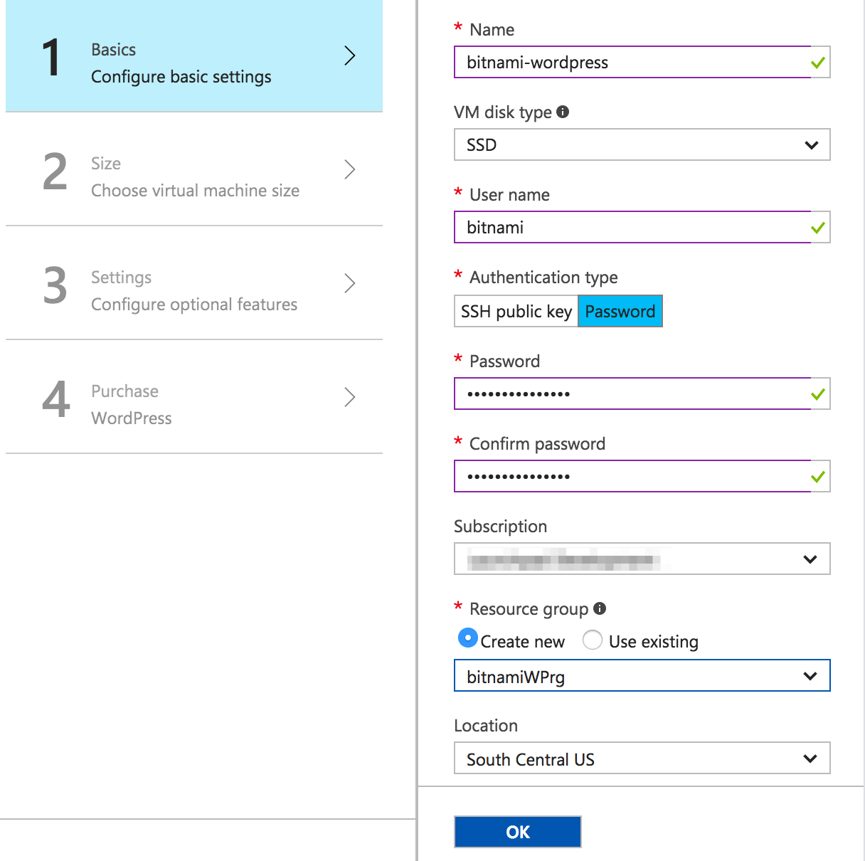Configure the new Azure virtual machine