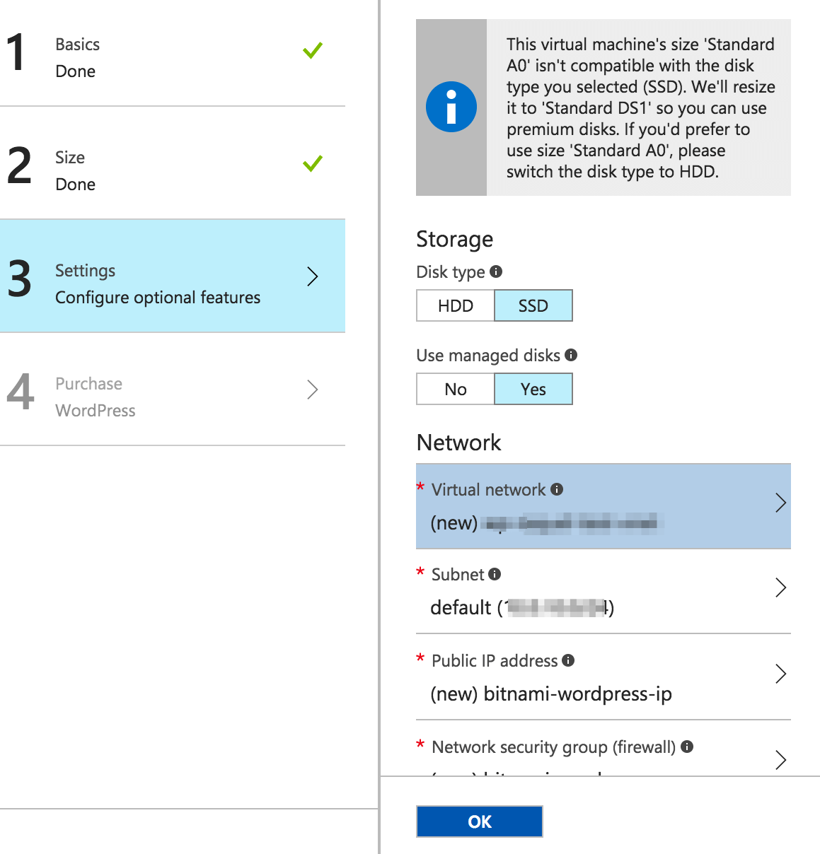 Configure the virtual network for an Azure virtual machine