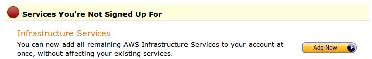 AWS service subscription