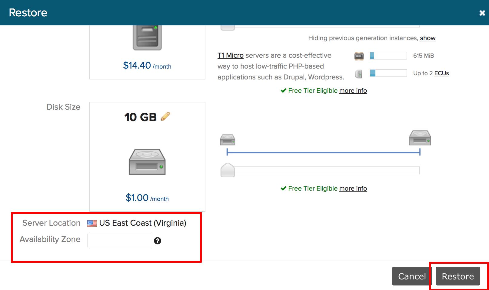 Server restore