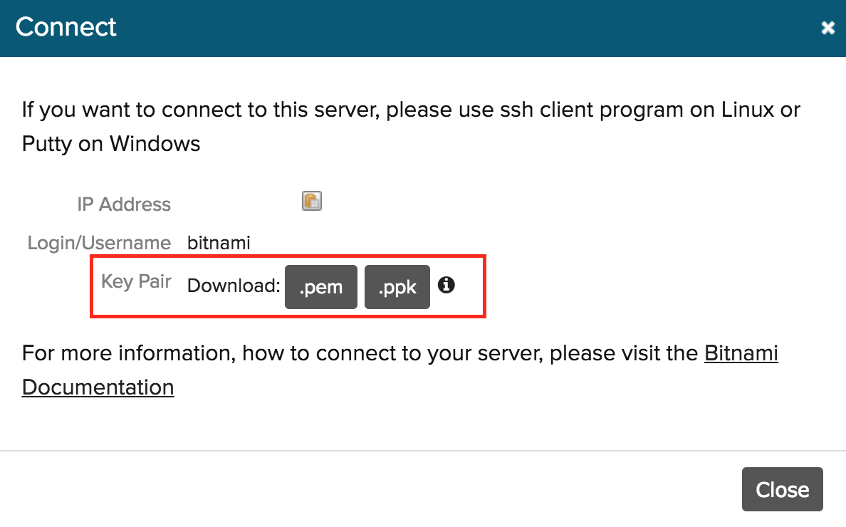 Bitnami server management