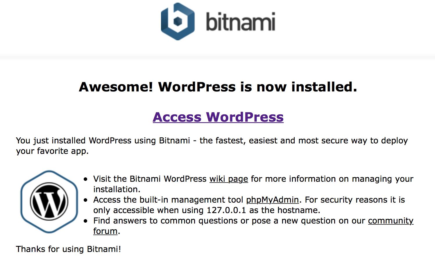 Bitnami Blueprint usage