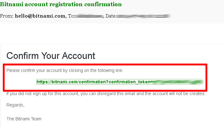 Bitnami confirmation