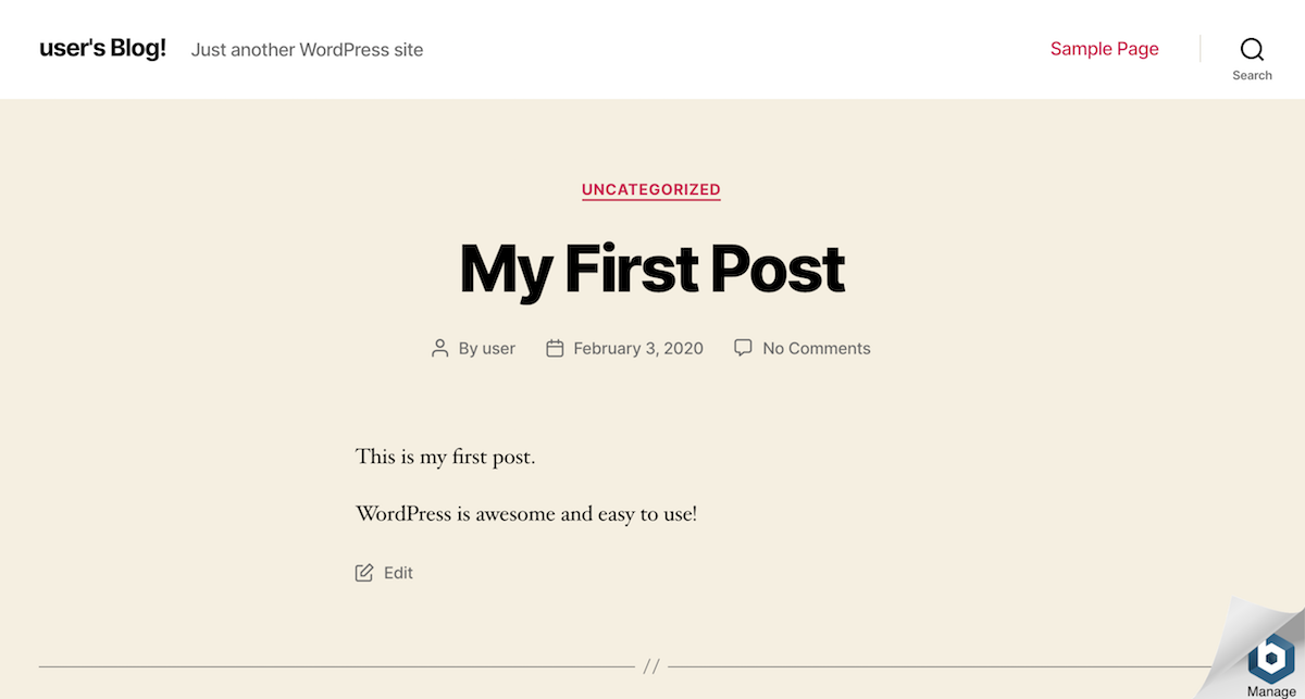 WordPress post publishing
