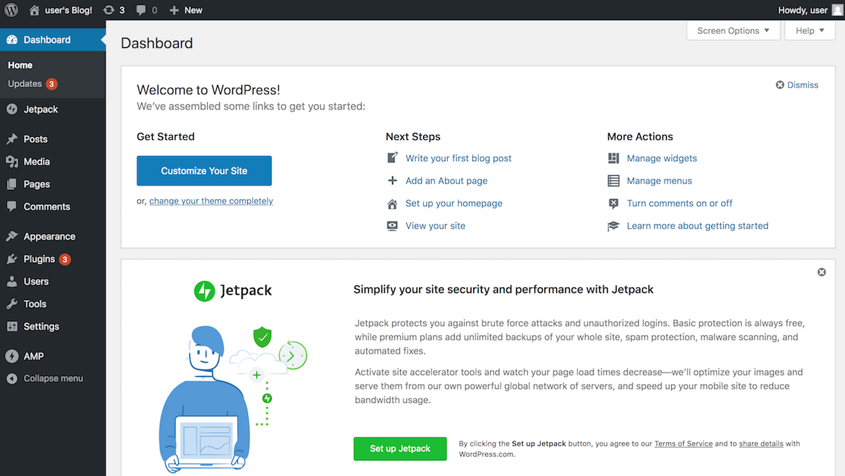 WordPress credentials
